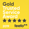 Feefo gold service badge