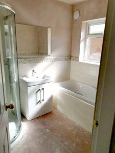 recent bathroom installation