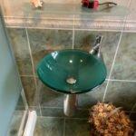 new bathroom sink installation