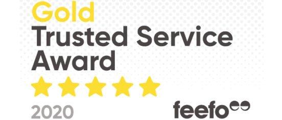 Feefo Gold Trusted Service Award 2020
