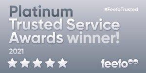 Feefo 2021 platinum banner